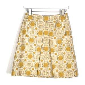 Ann Taylor Metallic Brocade Skirt